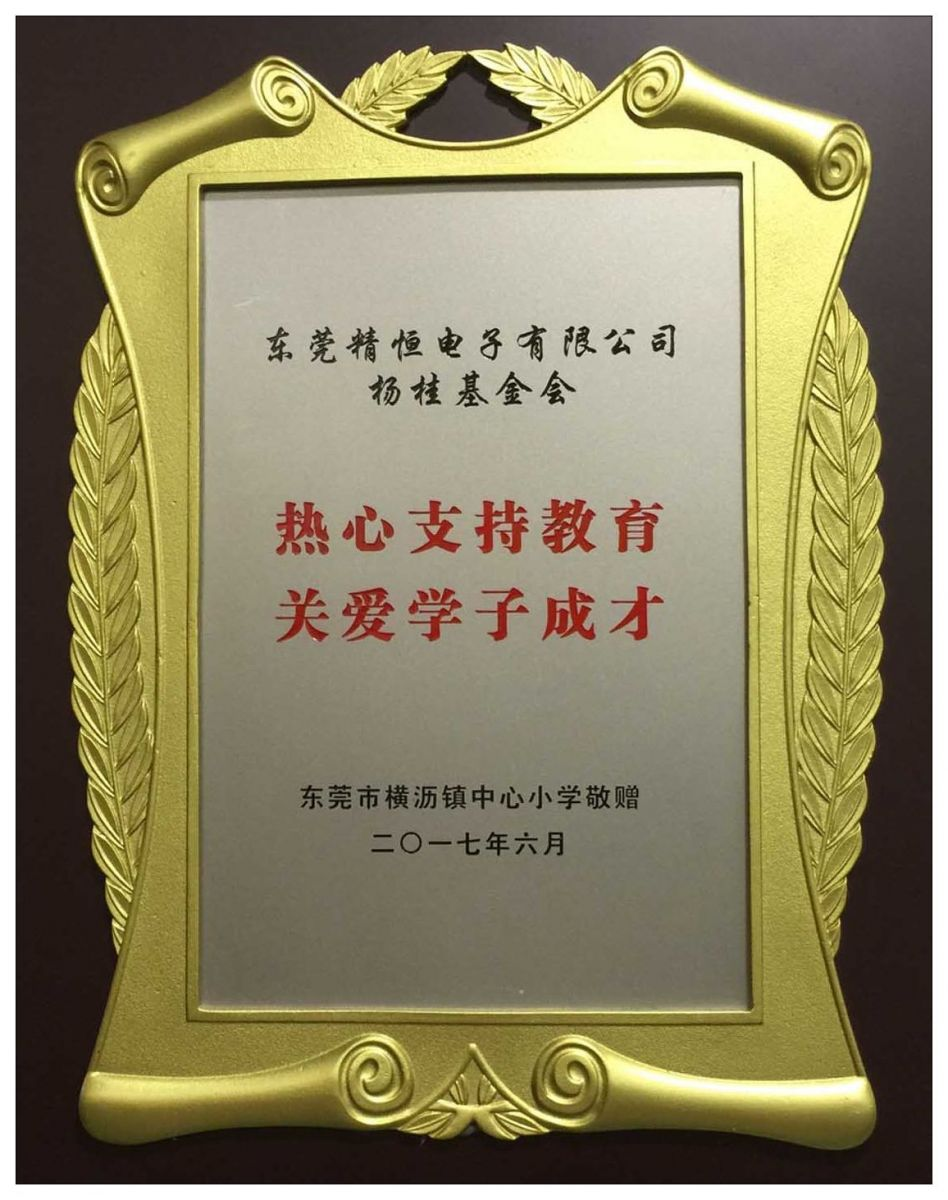2017, JUNE – The plaque of charity deeds