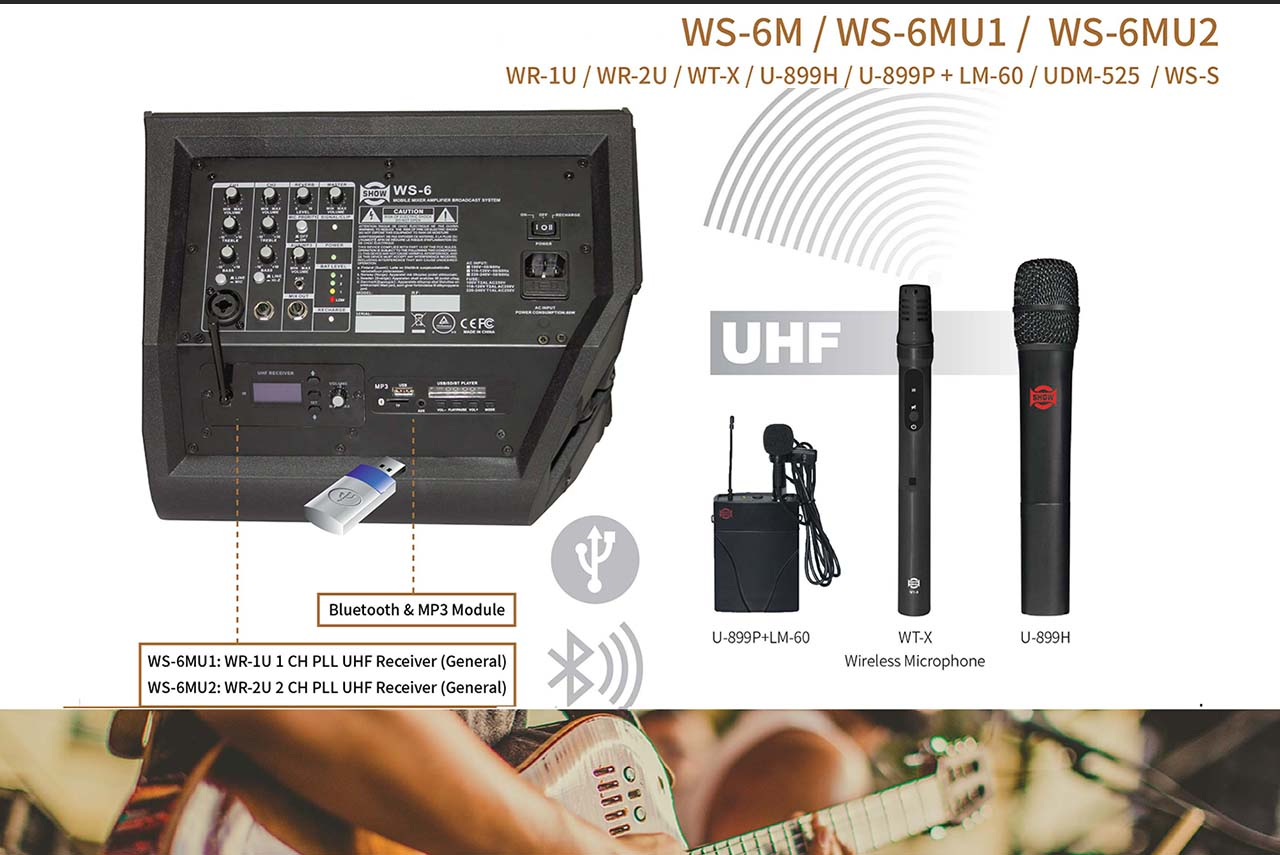 VIDEO – WS-6 Protable Sound System with Bluetooth